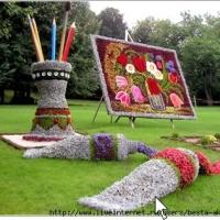 Цветники, клумбы, ландшафтный дизайн, бордюрный камень,