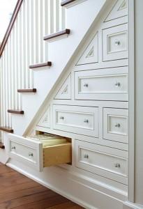лестница с ящиками,как сделать лестницу,шкаф под лестницей