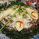 оформление блюд,оформление блюд +с фото,оформление стола,украшение блюд,украшение блюд фото,украшение салатов,салаты,сервировка.салаты +и закуски,новогодние рецепты,рецепты +с фото,рецепты салатов
