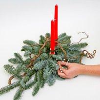 Поделки из веток елки на новый год