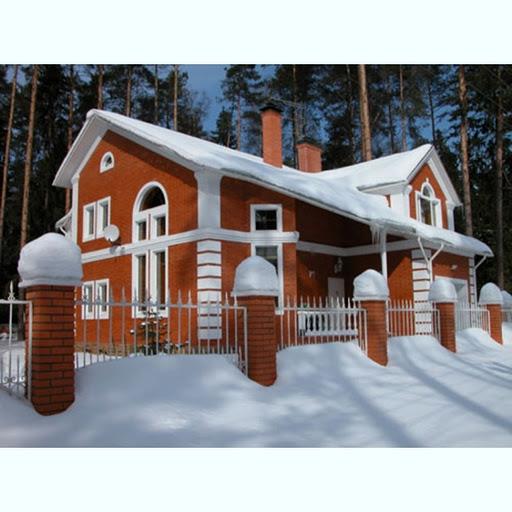 красный кирпич,дом из красного кирпича