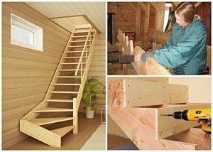 как строить лестницу