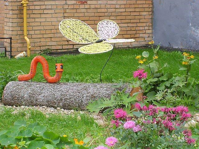 Новые поделки для сада
