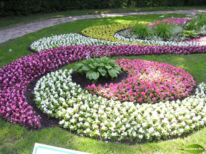 Как сделать красивый цветник, клумбы,рабатки,цветник, газон