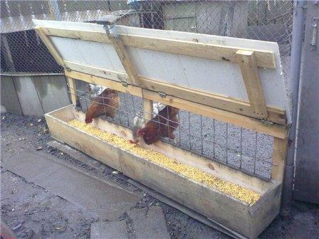 Изготовление кормушек для кур своими руками