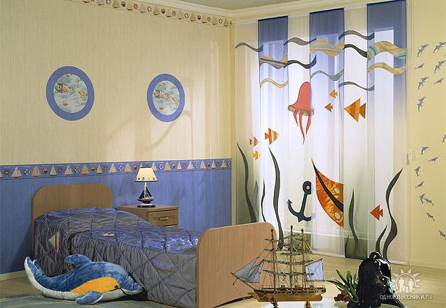 Шторы для комнаты мальчика своими руками фото 907