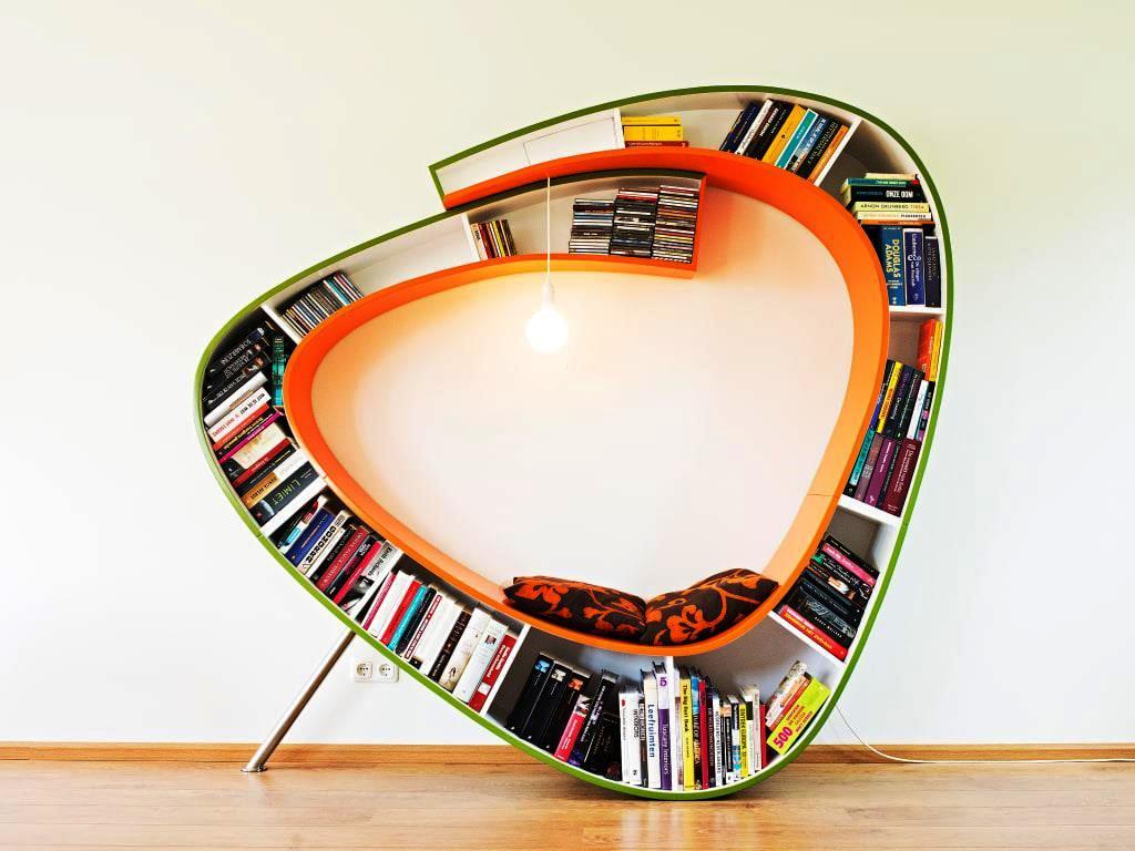 кресло, библиотека, мебель