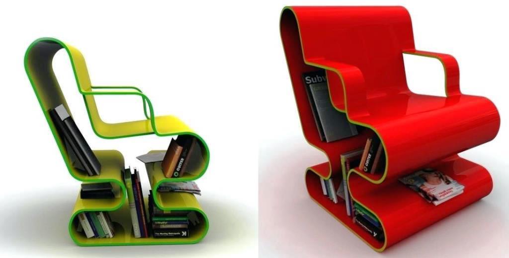 кресло-библиотека, мебель, поделки для дачи