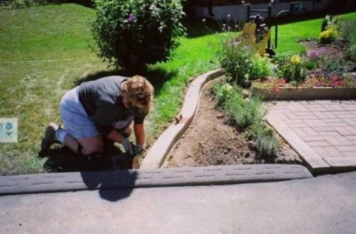 Садовый бордюр для зоны отдыха