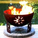 мангалы,барбекю, дачный дизайн ландшафтный дизайн фото оригинальное украшение дачного участка необычное украшение для дачного участка огненные чаши Up North
