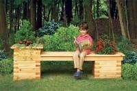Скамейка для сада, скамейка-клумба, мебель для дачи, скамейки, сделай сам, мебель своими руками