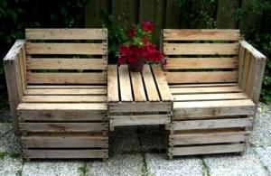 Самоделки из деревянных ящиков для дачи
