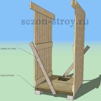 дворовая уборная, как построить уборную,туалет на даче,как построить туалет
