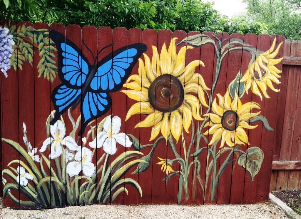 красивые заборы, как покрасить забор, заборы