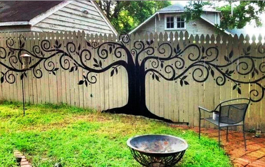как покрасить забор, красивый забор, забор для дачи