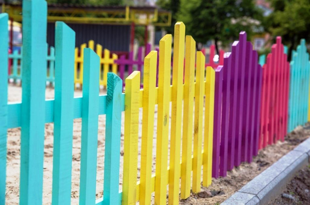 заборы, как покрасить забор, забор для сада